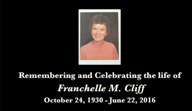 Franchelle Cliff Memorial Service, time of Inspiration and Celebration