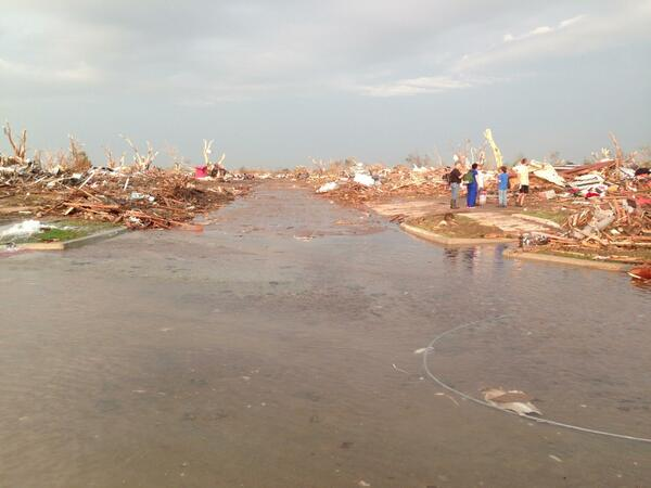 Rescuers work in the aftermath of the May 20, 2013 tornado in Moore, Oklahoma. Photo by Nick Oxford.