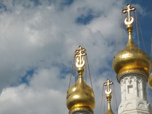 "photo of Russian Orthodox Church ""Onion Dome"" towers"